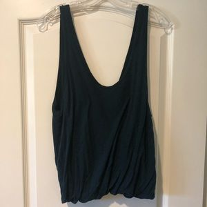 Free People dark green tank